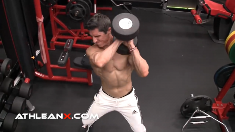 dumbbell power clean over for shoulders total body