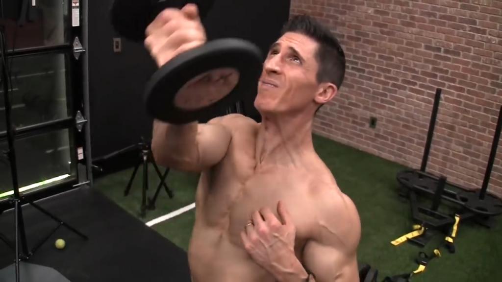 dumbbell ucv high raise chest adduction exercise