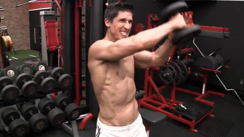 dumbbells figure 8 for shoulders metabolic