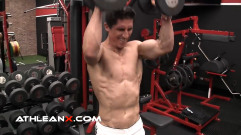 fixed arm front raise for shoulders metabolic