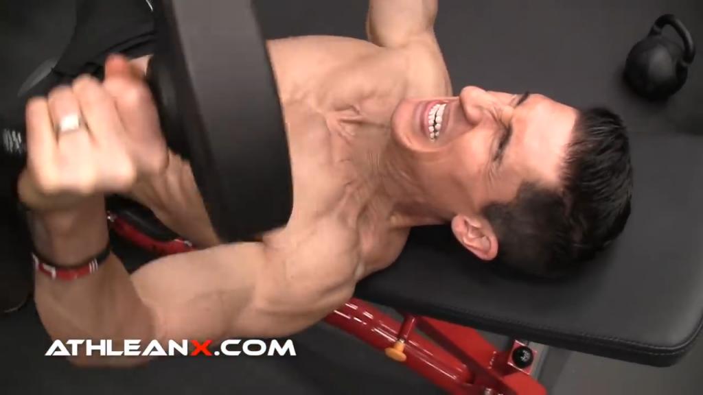 ladder style dumbbell bench press for metabolic chest exercise