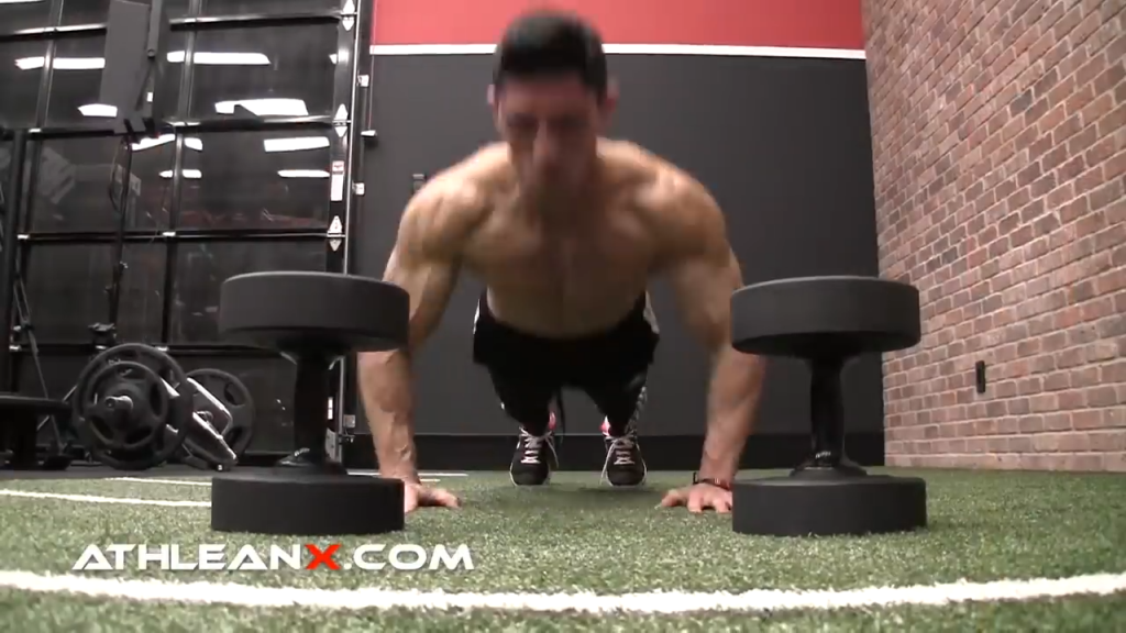 plyo tap chest exercise for power