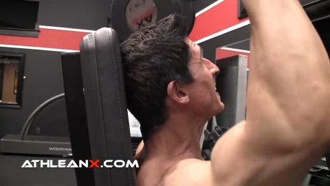 a seated overhead press pushes shoulders and head backward which isn't a good position
