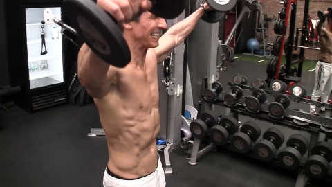 straight lateral raise for shoulder hypertrophy