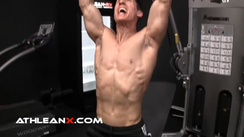 take the bench press up to standing for a total body chest exercise