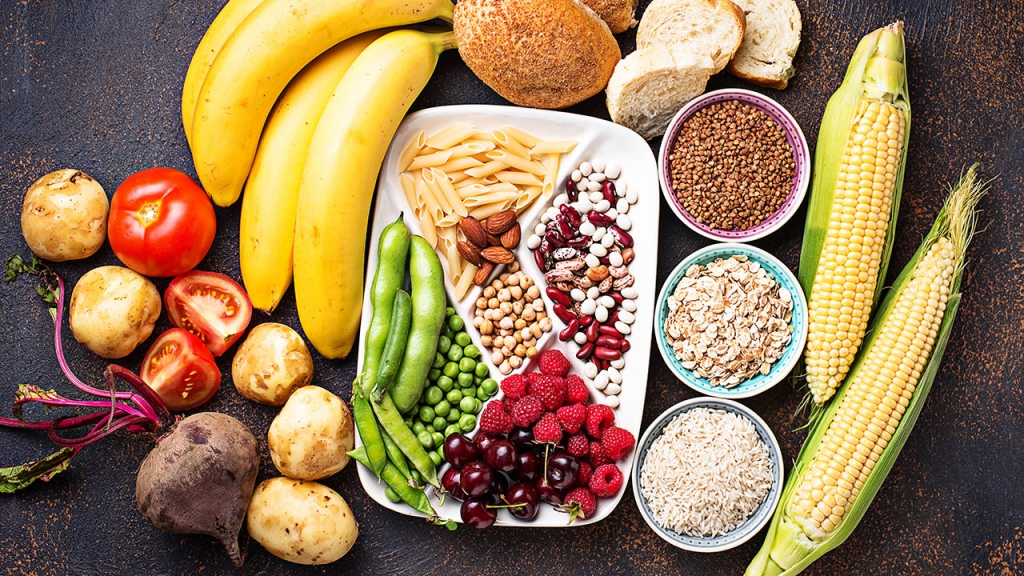 fibrous and starchy carbs, lists of carbohydrates