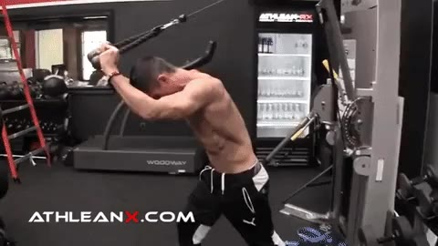 cable triceps pushaway