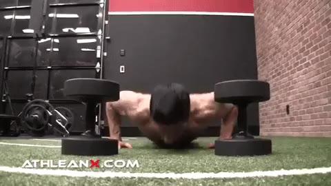 plyo tap dumbbell chest exercise