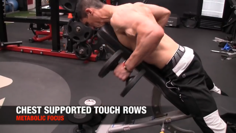 chest supported touch row for metabolic back exercise