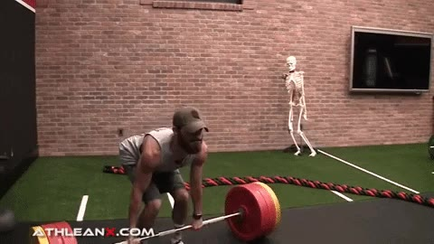 think of the deadlift as a push through first half of movement and a pull for second half
