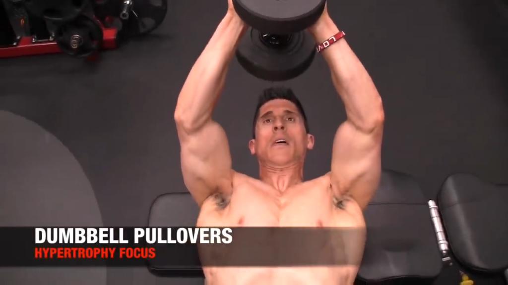 dumbbell pullover exercise for back hypertrophy