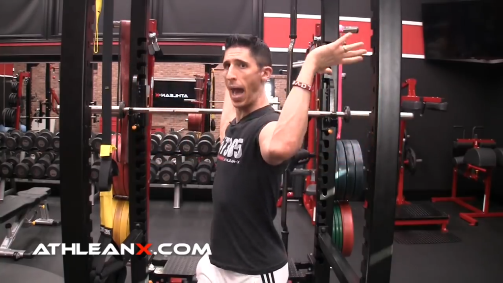 hands behind elbows in w raise help engage rotator cuff