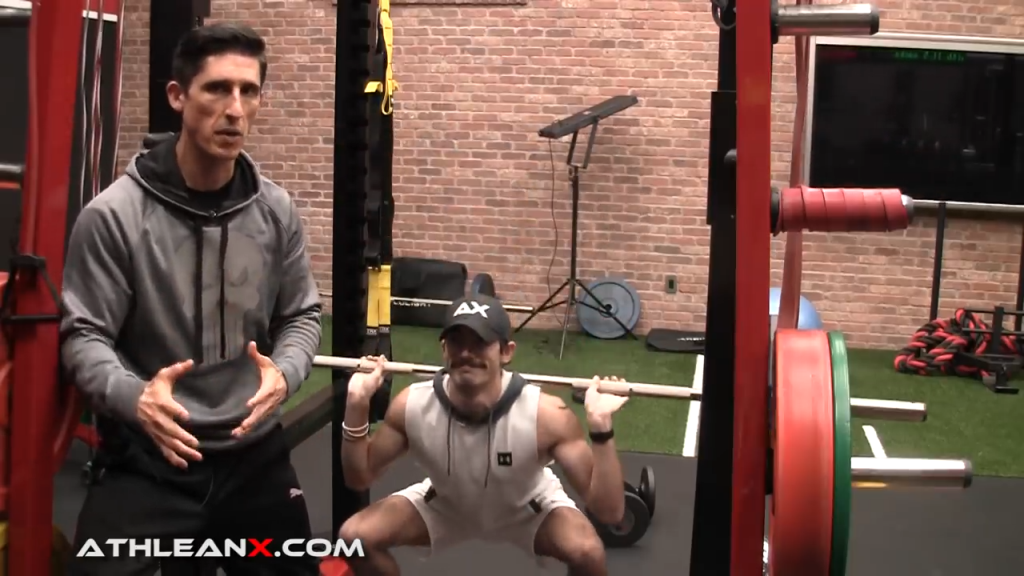 go full range of motion on the squat even if you need to use less weight