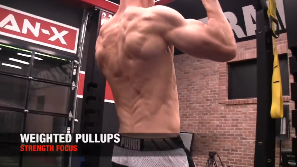weighted pullup for back strength