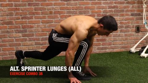 alternating sprinter lunge