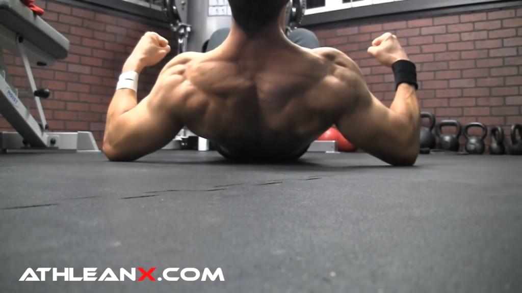 back widow bodyweight upper back exercise