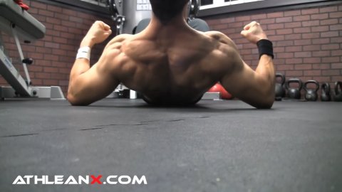 back widow bodyweight upper back exercise