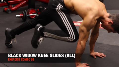 black widow knee slide ab exercise