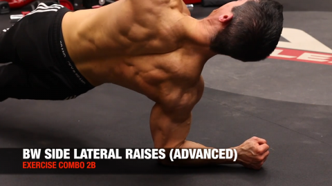 alternating bodyweight side lateral raise