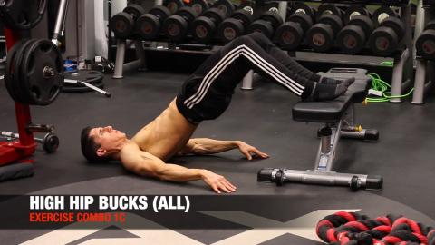 high hip buck exercise