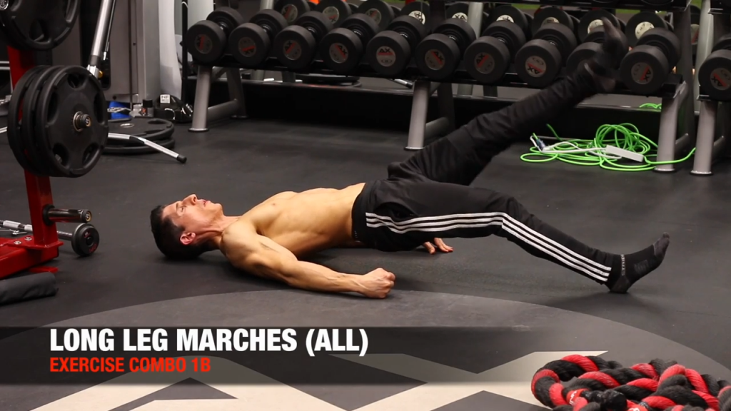 long leg march exercise