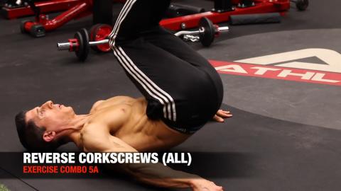 reverse corkscrew ab exercise
