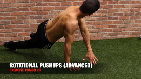 rotational pushup