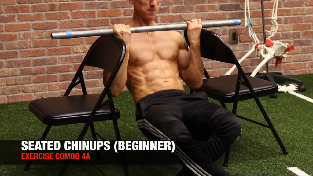 seated chin up exercise