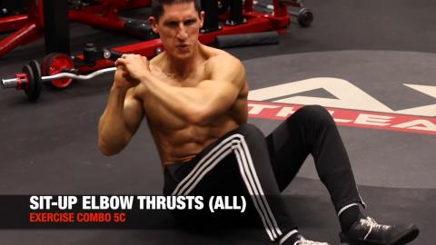 sit up elbow thrust