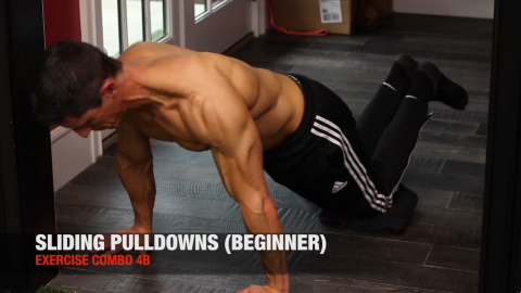 bodyweight sliding pulldown