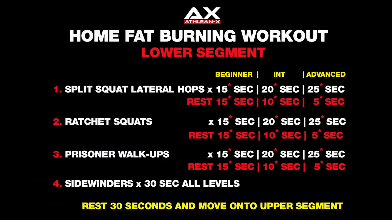 fat burning workout lower body