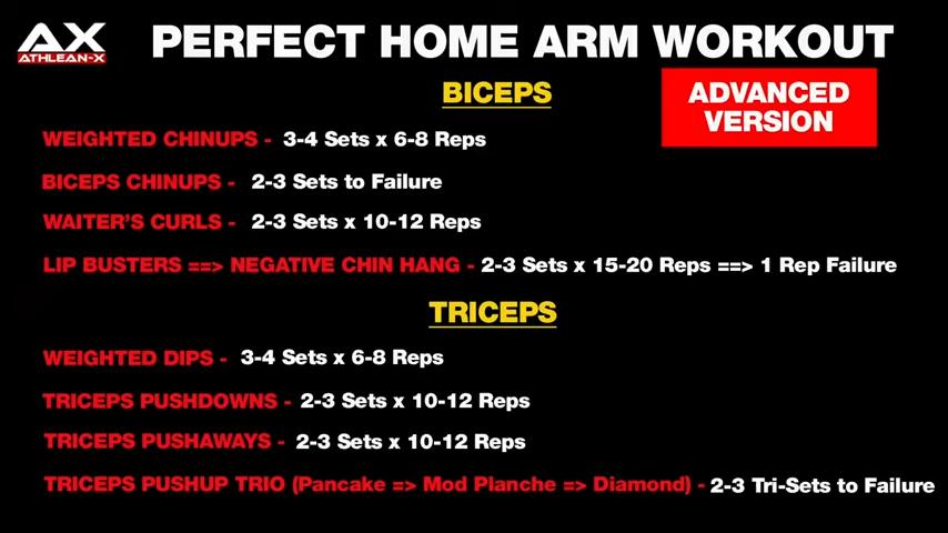 home arm workout advanced version