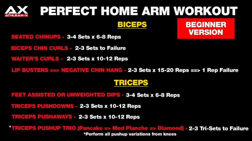 home arm workout beginner version