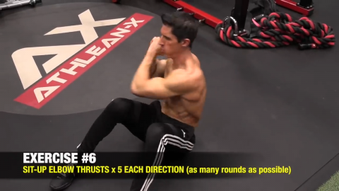 situp elbow thrust abs exercise