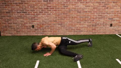 step through pushups