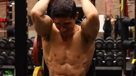stretch on long head of triceps