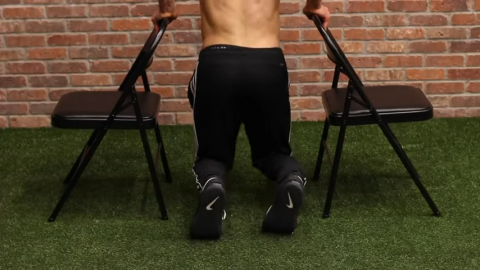 supported upright dips