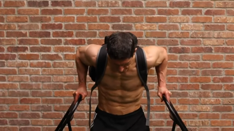 weighted upright dips