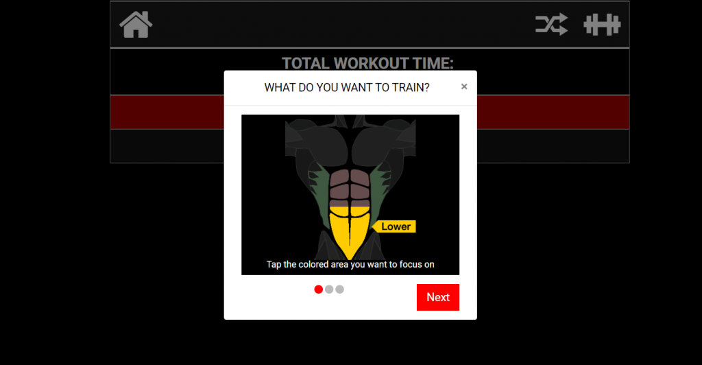 6 pack shuffle lower abs option