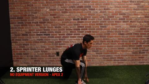 bodyweight sprinter lunge