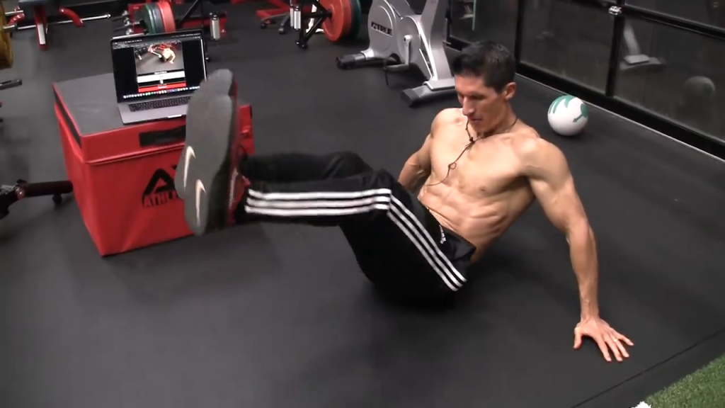 seated ab circles lower abs exercise