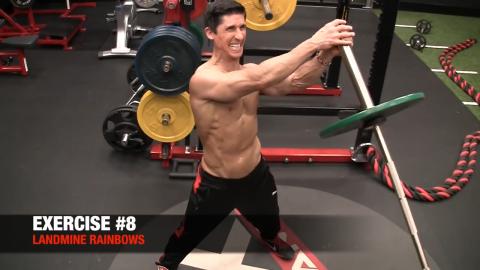 landmine rainbows upper chest exercise