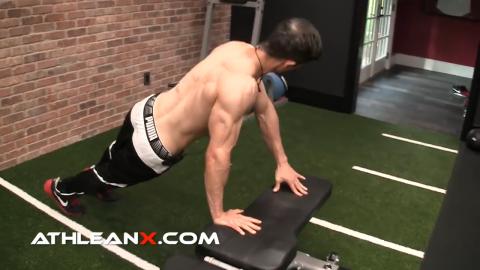 twisting incline pushups