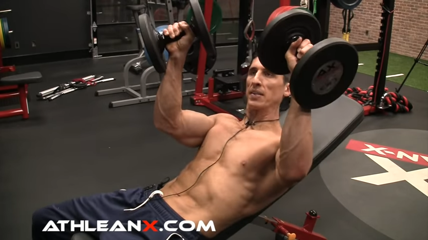 lead with thumbs in dumbbell bench press