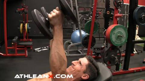 target anterior delts in dumbbell bench press