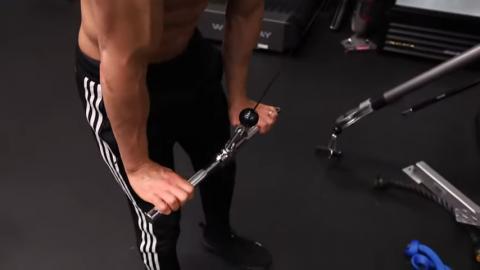 full lockdown in triceps pushdown