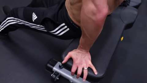 hand placement in bench dips