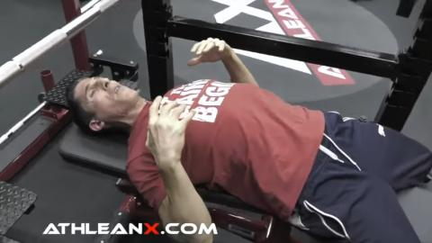 shoulder blades down and back bench press