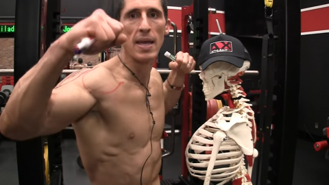 side lateral raise arm position